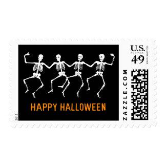 Dancing Skeletons Postage Stamp