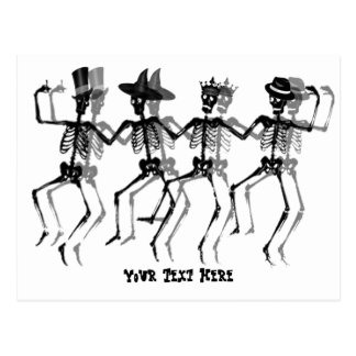 Dancing Skeletons Postcard