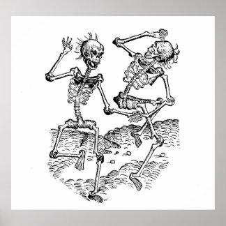 Dancing Skeletons Posters