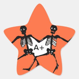 Dancing Skeletons Star Sticker