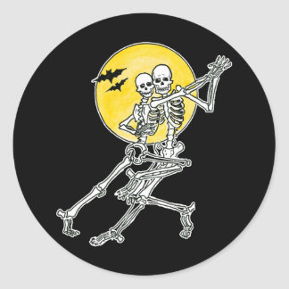 Dancing Skeletons Stickers/Envelope Seals Classic Round Sticker