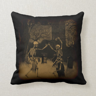 Dancing Skeletons Throw Pillow