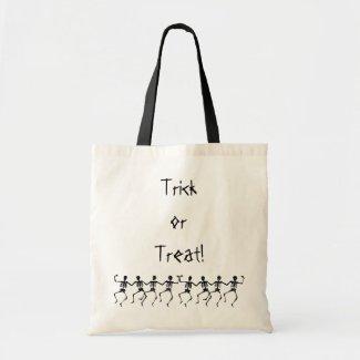 Dancing Skeletons Trick or Treat! Tote Bag bag
