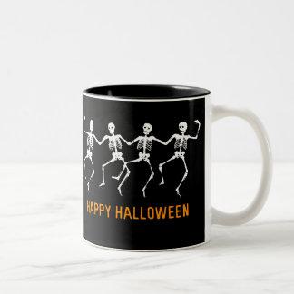 Dancing Skeletons Two-Tone Coffee Mug