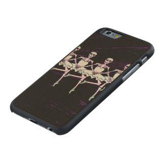 Dancing skeletons carved® maple iPhone 6 slim case