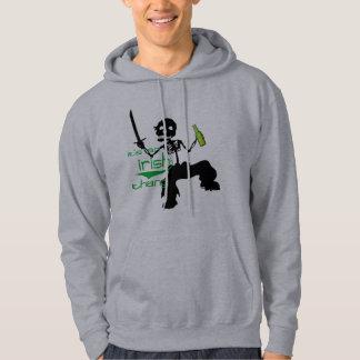 dancing skelton green beer funny st. patrick's day hoodie