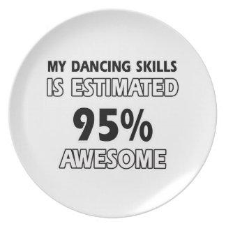 dancing skills party plates