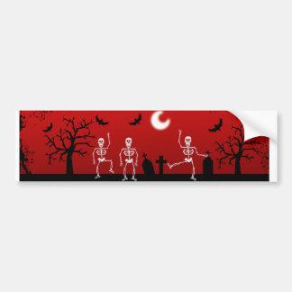 Dancing Skulls Bumper Sticker