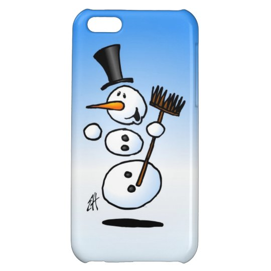 Dancing snowman case for iPhone 5C