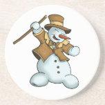 dancing snowman coaster