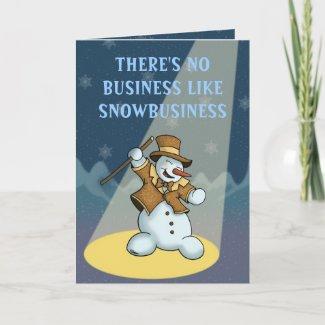 dancing snowman holiday greetingcard card