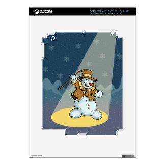 dancing snowman holiday iPad skin