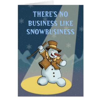 dancing snowman holiday notecard
