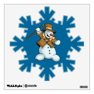 dancing snowman holiday wall decal