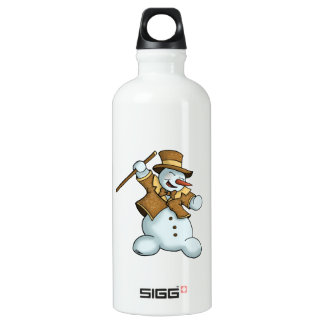 dancing snowman holiday water bottle