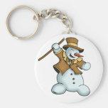 dancing snowman keychain