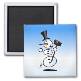 Dancing snowman magnet