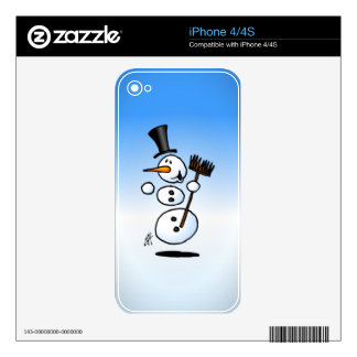 Dancing snowman decals for the iPhone 4S
