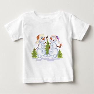 Dancing Snowmen Baby T-Shirt
