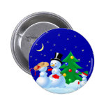 Dancing Snowmen Button