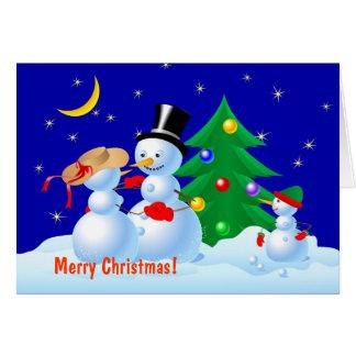 Dancing Snowmen Card