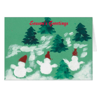 Dancing Snowmen Card