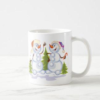 Dancing Snowmen Coffee Mug
