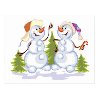 Dancing Snowmen Postcard