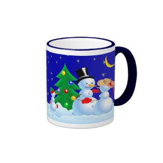 Dancing Snowmen Ringer Mug