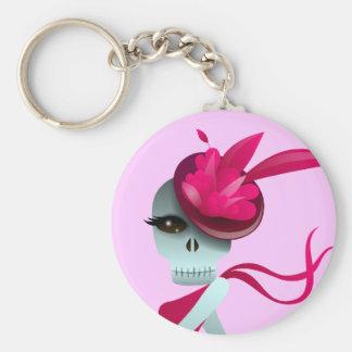 Dancing Solo Skull Keychain