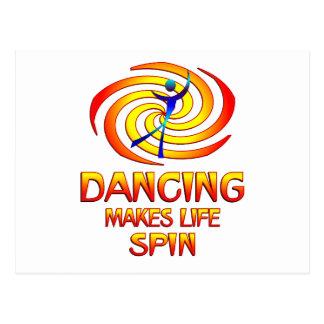 Dancing Spins Postcard