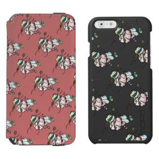 Dancing sprites & fairies - dreamy tribal bees iPhone 6/6s wallet case
