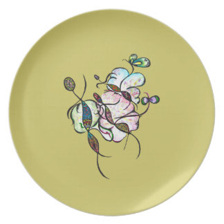 Dancing sprites & fairies - tribal dreamy plate