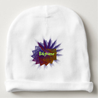 Dancing Squares Abstract Fractal Art Personalized Baby Beanie