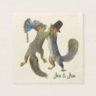 Dancing Squirrels Paper Napkins