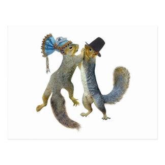 Dancing Squirrels Postcard