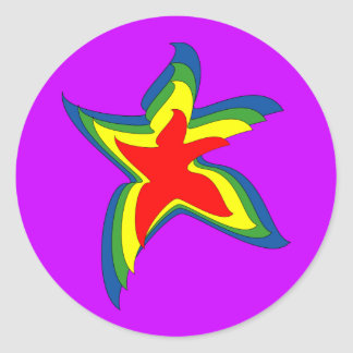 dancing star classic round sticker