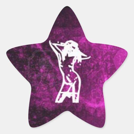 Dancing Star Star Sticker