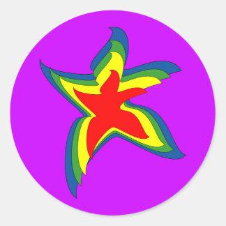 dancing star sticker