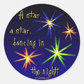 Dancing Stars Round Sticker