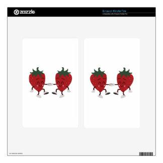 Dancing Strawberries Kindle Fire Skins