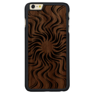 Dancing Sun Carved Walnut iPhone 6 Plus Case