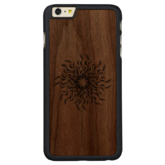 Dancing Sun Carved Walnut iPhone 6 Plus Slim Case