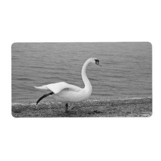 Dancing swan label