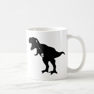 Dancing T-Rex design Classic White Coffee Mug