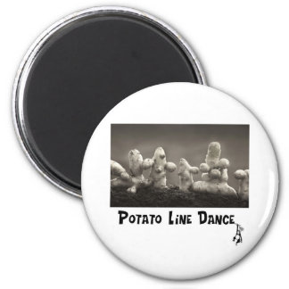 Dancing Taters Fridge Magnet