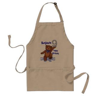 Dancing Teddy Bear 8th Birthday for Boy Adult Apron