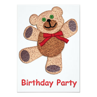 Dancing Teddy Bear Birthday Party Card
