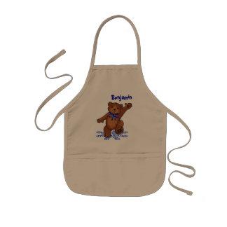Dancing Teddy Bear Kids' Apron