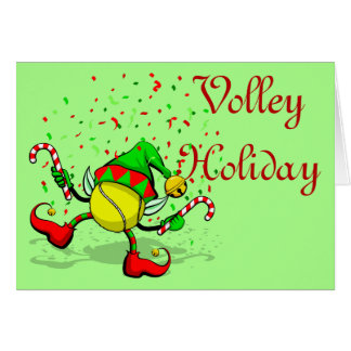 Dancing Tennis Christmas Elf Card